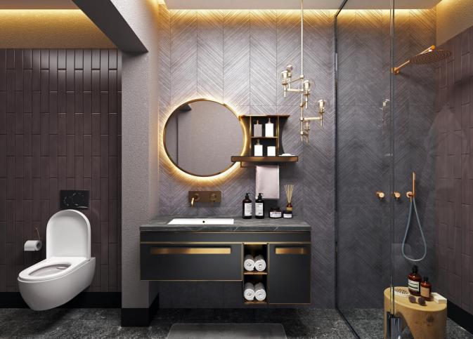 不锈钢浴室柜•BK-YS030